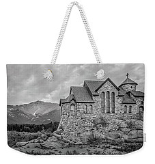 Chapel On The Rock - Black And White Weekender Tote Bag