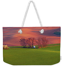 Weekender Tote Bag featuring the photograph Chapel St Barbara. Moravian Tuscany by Jenny Rainbow