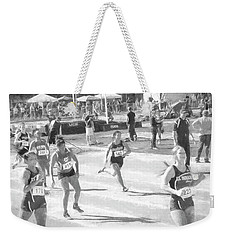 Charcoal Action Weekender Tote Bag