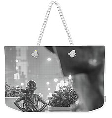 Charging Bull And Fearless Girl Nyc  Weekender Tote Bag