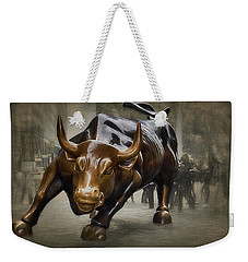 Charging Bull Weekender Tote Bag by Dyle Warren
