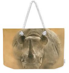Charging Rhino Weekender Tote Bag by Kathie Miller