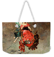 Weekender Tote Bag featuring the painting Chariot Of Swallows by Alexander Louis Leloir