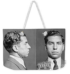 Weekender Tote Bag featuring the photograph Charles Lucky Luciano by Granger