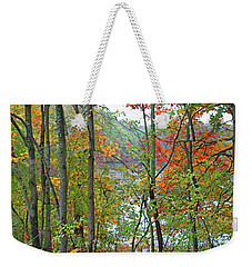 Charles River In Autumn Weekender Tote Bag by Rita Brown