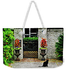 Charleston Cat Weekender Tote Bag