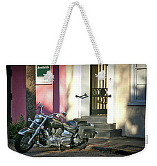 Weekender Tote Bag featuring the photograph Back Street Charleston Chopper by Phil Mancuso