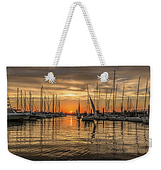 Charleston Harbor Marina Sunset Weekender Tote Bag
