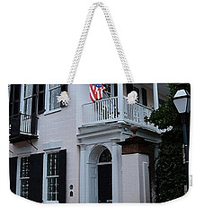 Weekender Tote Bag featuring the photograph Charlestons Cobble Stone by Donna Bentley