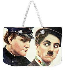 Charlie Chaplan And The Keystone Cop Weekender Tote Bag