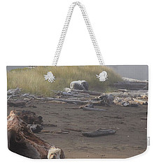 Charlie On Irish Beach Weekender Tote Bag
