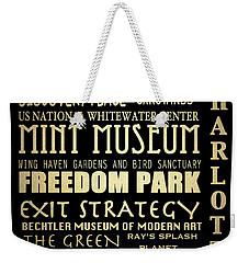 Charlotte North Carolina Famous Landmarks Weekender Tote Bag