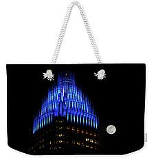 Charlotte, North Carolina Skyline Weekender Tote Bag by Serge Skiba