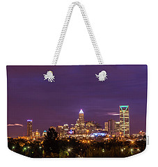 Charlotte, North Carolina Sunrise Weekender Tote Bag by Serge Skiba