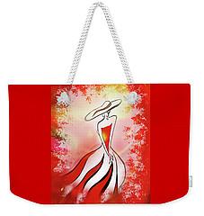 Charming Lady In Red Weekender Tote Bag by Irina Sztukowski