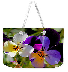 Weekender Tote Bag featuring the photograph Charming Viola 2 by Victor K