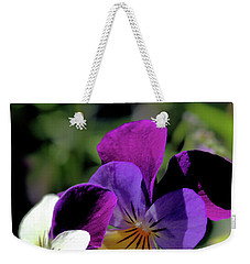 Weekender Tote Bag featuring the photograph Charming Viola by Victor K