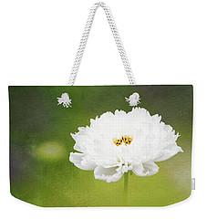 Charming White Cosmos Weekender Tote Bag