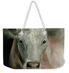 Charolais Cow Painting Weekender Tote Bag