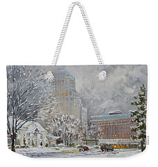 Chase Park Plaza In Winter, St.louis Weekender Tote Bag