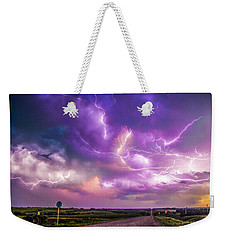 Chasing Nebraska Lightning 056 Weekender Tote Bag