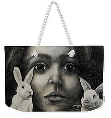 Chasing Rabbits Weekender Tote Bag by Jean Cormier