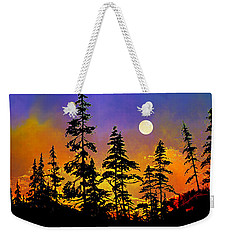 Weekender Tote Bag featuring the painting Chasing The Moon by Hanne Lore Koehler
