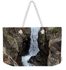 Weekender Tote Bag featuring the photograph Chasm Falls - Panorama by Shane Bechler