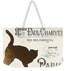 Chat Noir Paris Weekender Tote Bag by Mindy Sommers