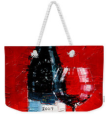 Still Life With Wine Bottle And Glass I Weekender Tote Bag