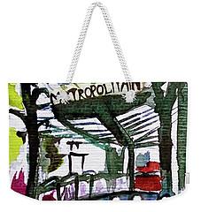 Chatelet Paris Metro Watercolor Sketch Weekender Tote Bag