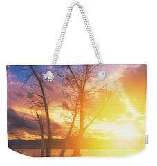 Weekender Tote Bag featuring the photograph Chatfield Lake Sunset by Darren White
