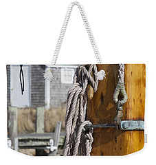 Weekender Tote Bag featuring the photograph Chatham Old Salt by Charles Harden