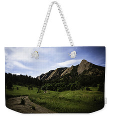 Weekender Tote Bag featuring the photograph Chautauqua At Night by Marilyn Hunt