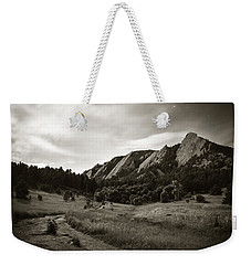 Weekender Tote Bag featuring the photograph Chautauqua Night Path 2 by Marilyn Hunt