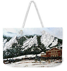 Chautauqua - Winter, Late Afternoon Weekender Tote Bag by Tom Roderick