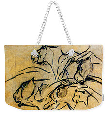 chauvet cave lions Clear Weekender Tote Bag