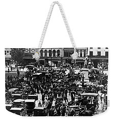 Cheapside Public Square In Lexington - Kentucky - April 7  1920 Weekender Tote Bag by International  Images