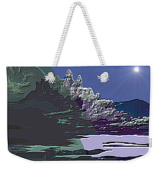 Weekender Tote Bag featuring the digital art 1978 - Nowhere  by Irmgard Schoendorf Welch