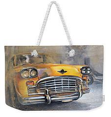 Checker Taxi Weekender Tote Bag by Vali Irina Ciobanu