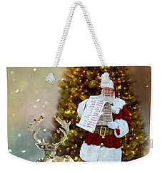 Weekender Tote Bag featuring the photograph Checking The List by Judy Hall-Folde