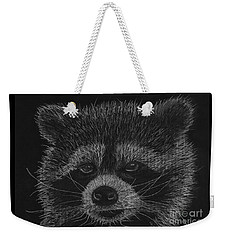 Cheeky Little Guy - Racoon Pastel Drawing Weekender Tote Bag