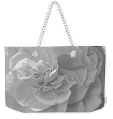 Cheerful - Black And White Weekender Tote Bag
