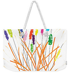 Cheerful Cattails Weekender Tote Bag