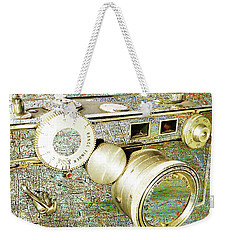 Weekender Tote Bag featuring the mixed media Cheese by Tony Rubino