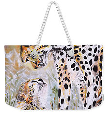 Cheetah And Pup Weekender Tote Bag