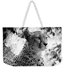 Cheetah B W, Guepard Black And White Weekender Tote Bag