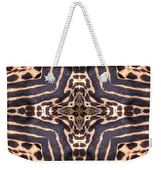 Cheetah Cross Weekender Tote Bag by Maria Watt