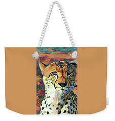 Cheetah Face Weekender Tote Bag