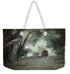 Cheetah On Watch Weekender Tote Bag